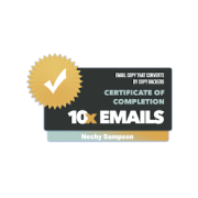 Certification of completion - 10x Emails