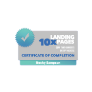Certification of completion - 10x Landing Pages